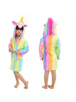 Халат-пижама кигуруми единорог радужный