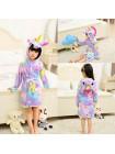 Халат-пижама кигуруми единорог звездный детский