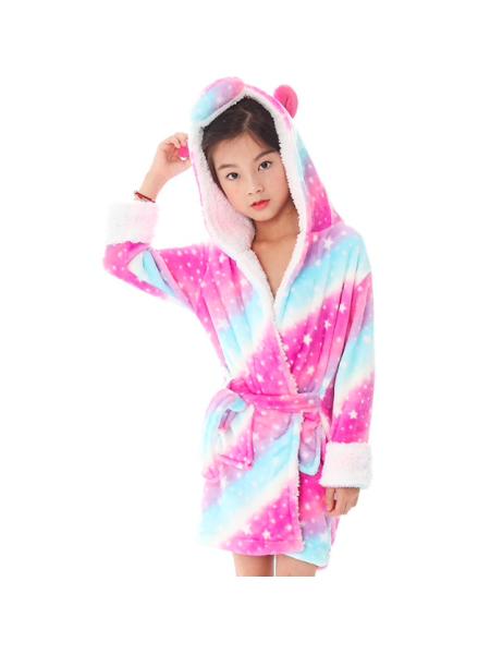 Халат-пижама кигуруми единорог звёздная радуга