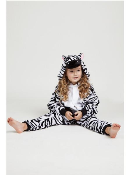 Детская кигуруми зебра