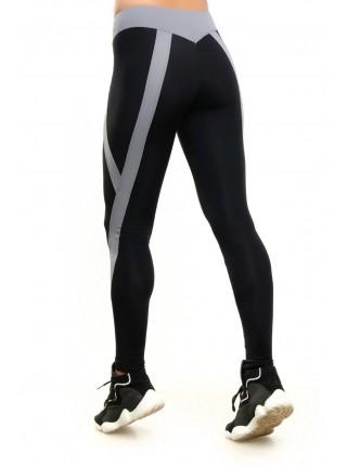 Лосины женские спортивные с серыми стрелками