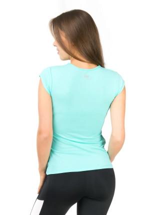 Спортивная футболка с V-образным вырезом цвета светлой мяты