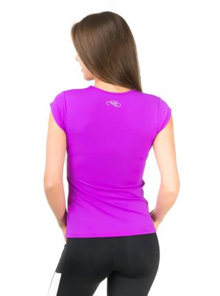 Женская беговая футболка цвета фуксия