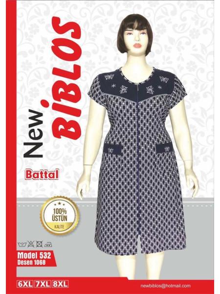 Трикотажный халат большого размера Biblos 532-1068