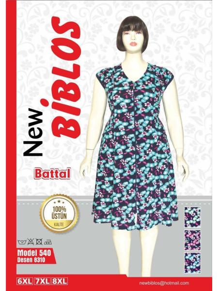 Легкий халат большого размера с цветами Biblos 539-0405