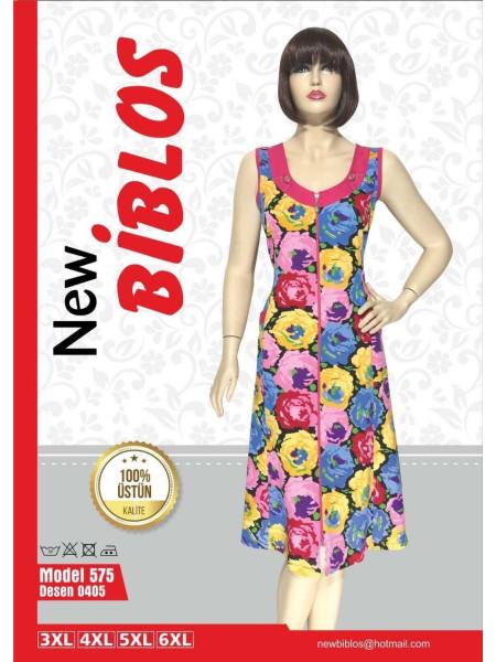 Яркий женский халат на молнии Biblos 575-0405