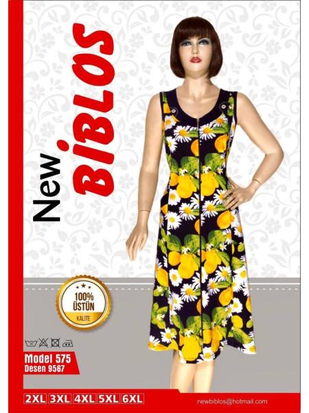 Легкий женский халат с цветами и фруктами Biblos 575-9567