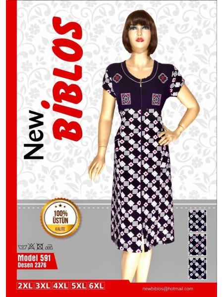 Легкий трикотажный халат для женщин Biblos 591-2376