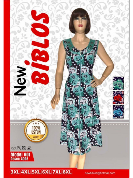 Женский трикотажный халат с розами Biblos 601-4098