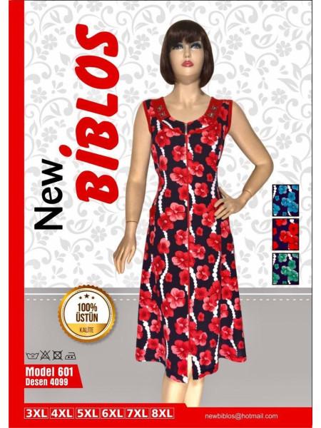 Трикотажный халат с цветами Biblos 601-4099