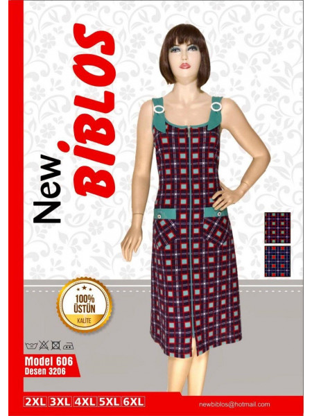Халат клетчатый женский Biblos 606-3206