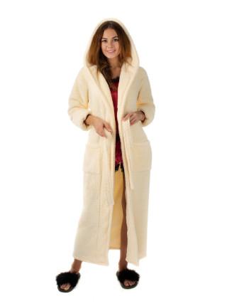 Женский махровый халат длинный