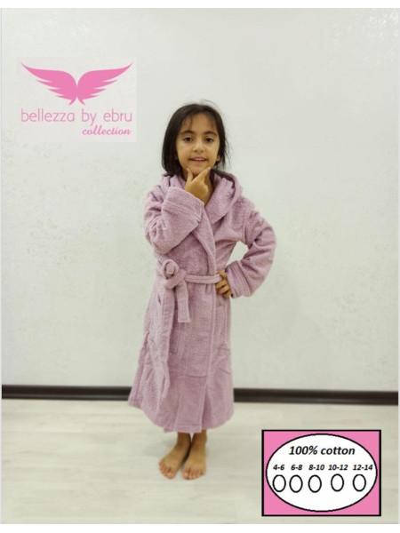 Детский банный халат на запах для девочки