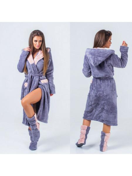 Комплект халат махровый с сапожками