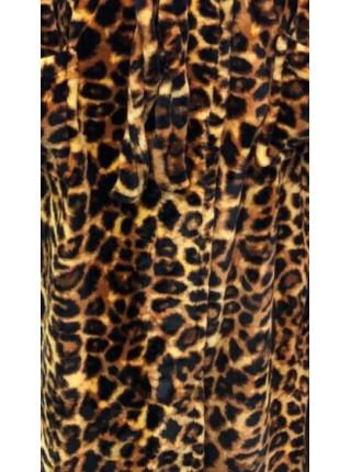 Женский махровый халат леопардовый
