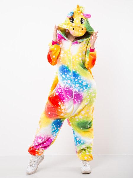 Махровая пижама-кигуруми Единорог Космический