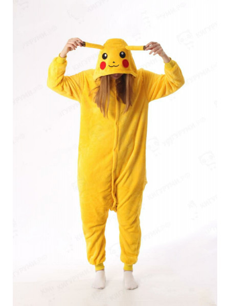 Пижама-кигуруми на пуговицах Пикачу
