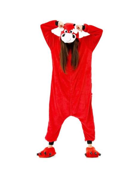 Кигуруми пижама красный бык