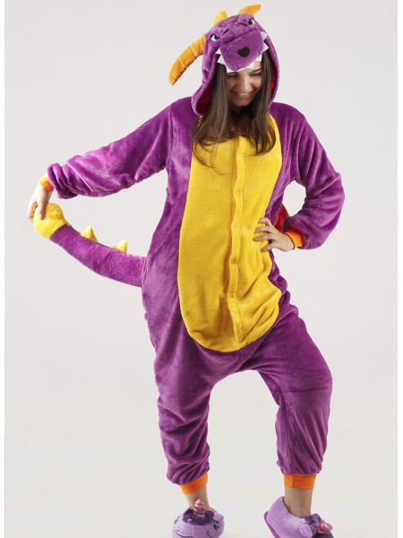 Кигуруми фиолетовый Дракон Спайро