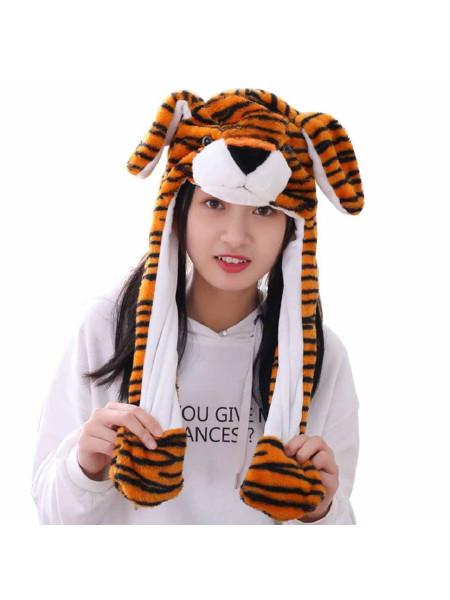 Шапка кигуруми детская тигренок с подсветкой и ушками
