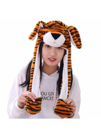 Шапка кигуруми тигренок с подсветкой и двигающимися ушками
