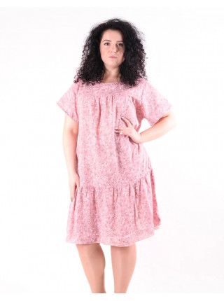 Свободное летнее платье из льна