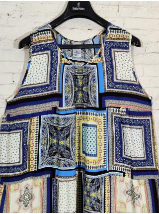 Летнее прогулочное платье из штапеля с широким подолом