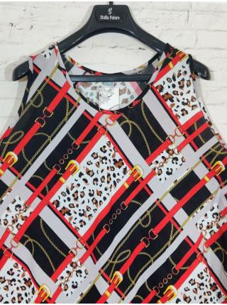Стильное прогулочное платье без рукавов с широким подолом