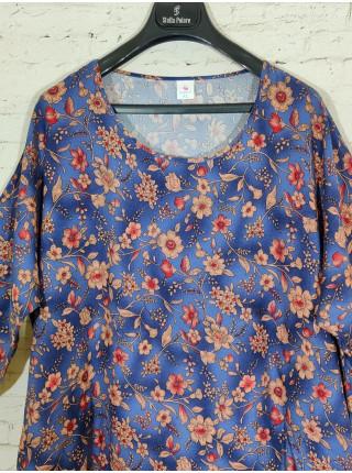 Женское прогулочное платье из штапеля с цветами
