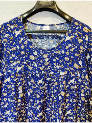 Женское летнее платье больших размеров синего цвета