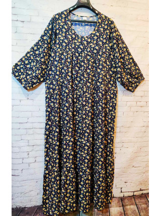Женское длинное летнее платье из штапеля