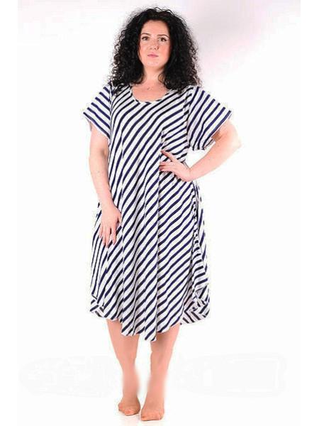 Яркое женское летнее платье принт полоска