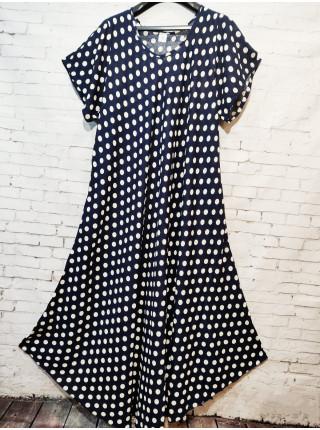 Длинное летнее платье для женщин принт горох