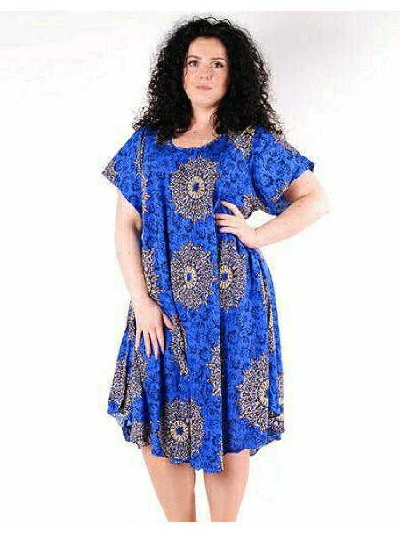 Стильное женское платье с коротким рукавом