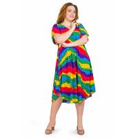 Яркое женское летнее платье радуга
