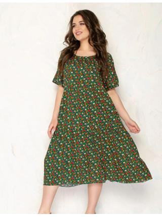 Штапельное платье для женщин с карманами