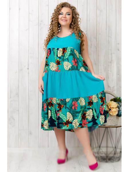 Женское летнее платье ярусами