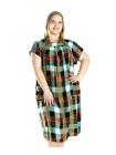 Летнее штапельное платье больших размеров с карманами