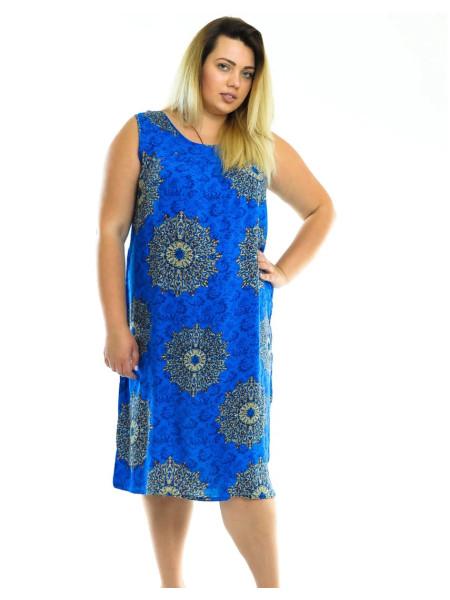 Летнее штапельное платье для женщин