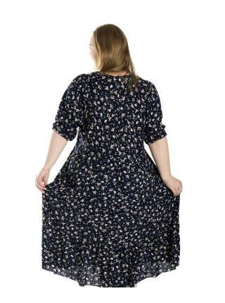 Штапельное летнее платье больших размеров