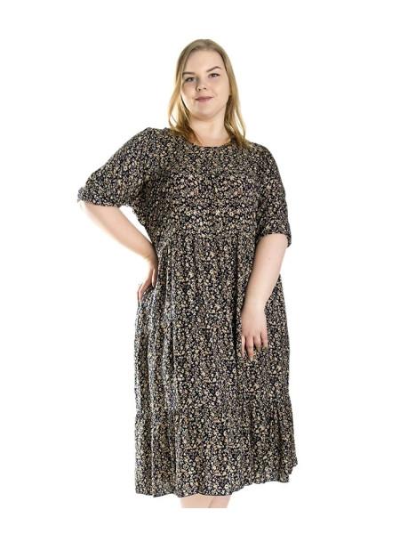 Штапельное летнее платье для женщин