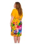 Женское летнее платье с поясом из штапеля