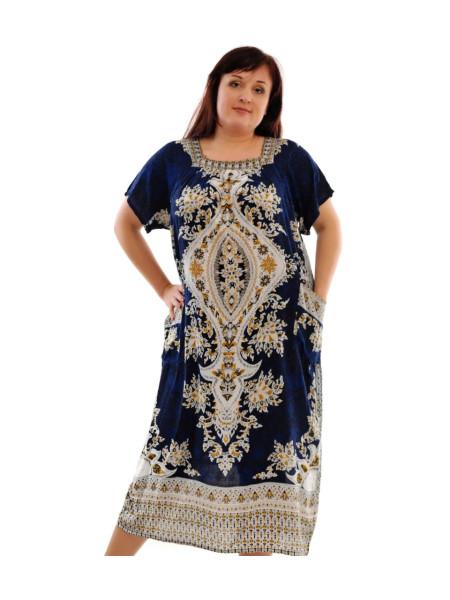 Женское платье больших размеров с карманами