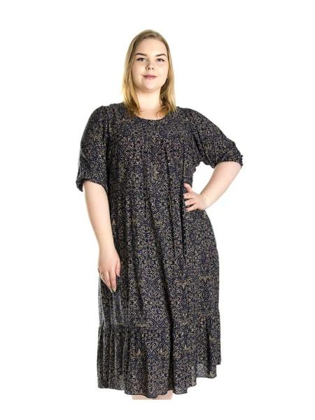 Женское штапельное платье с узором
