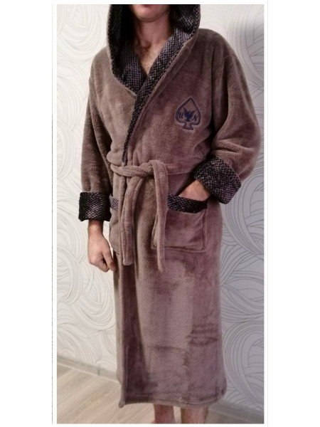 Мужской махровый халат на запах в ассортименте