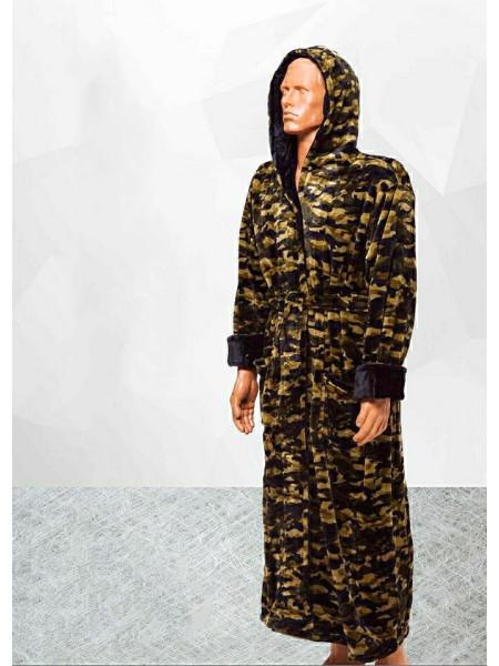 Халат мужской махровый цвет камуфляж больших размеров