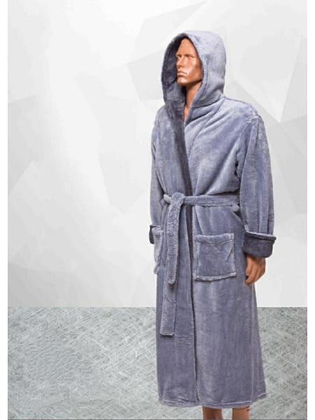 Мужской махровый халат однотонный в ассортименте
