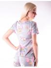 Летний пижамный набор для женщин шорты и футболка со слониками