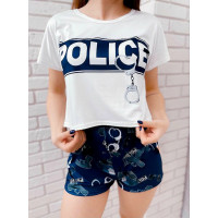 Женская трикотажная пижама Police