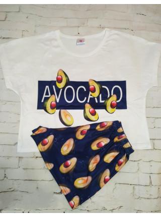 Женская трикотажная пижама Avocado